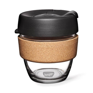 Keepcup Brew Cork Coffee Cups Keepcup Brew 8oz Glass Coffee Cup With Cork Band - Espresso