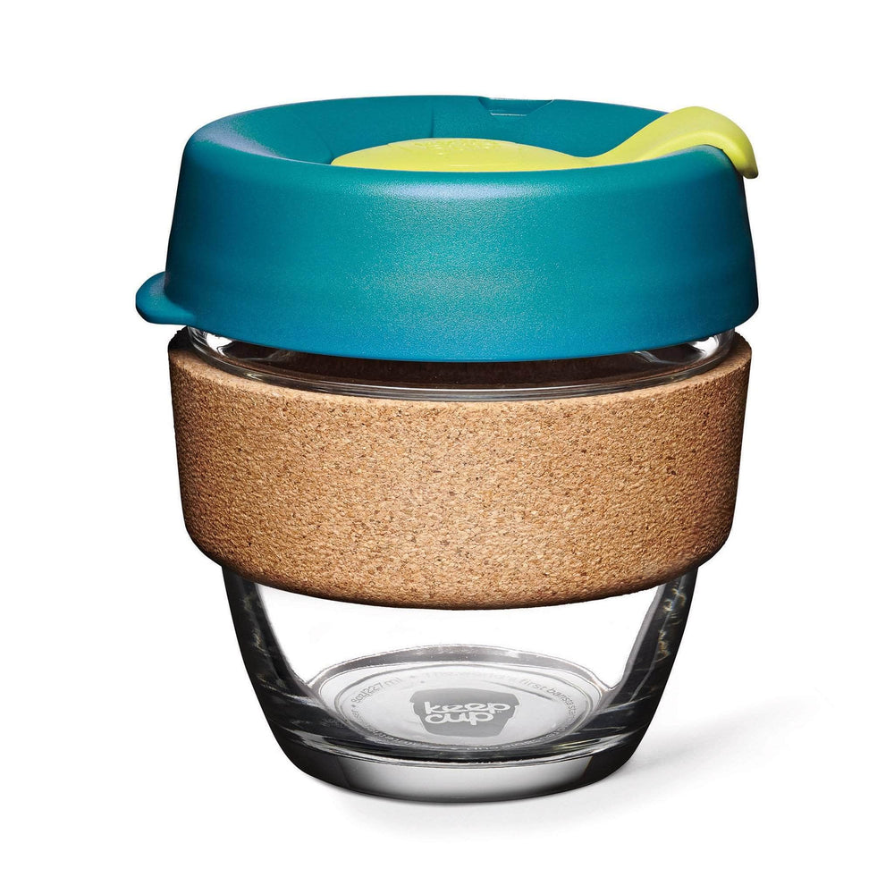 Keepcup Brew Cork Coffee Cups Keepcup Brew 8oz Glass Coffee Cup With Cork Band - Turbine