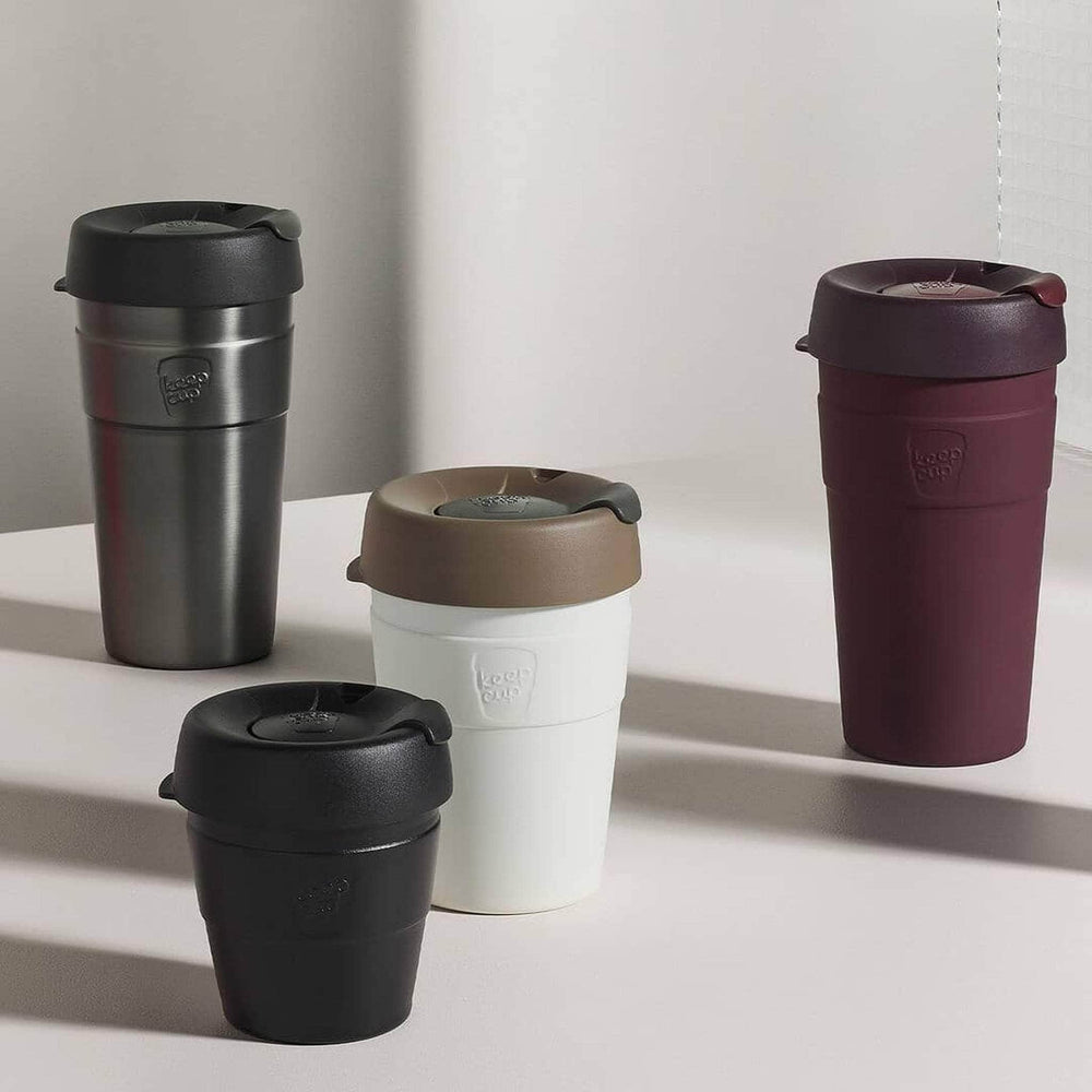 Keepcup Thermal Coffee Cups KeepCup Thermal Insulated Reusable Coffee Cup 12oz Med Black