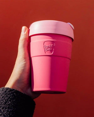 Keepcup Thermal Coffee Cups KeepCup Thermal Insulated Reusable Coffee Cup  12oz Med Saskatoon Pink