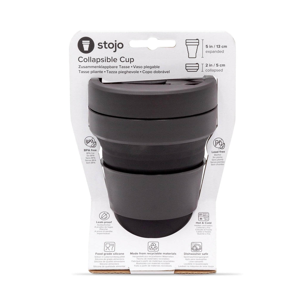 Stojo Coffee Cups Stojo Collapsible & Reusable Travel Mug 12oz/355ml - Ink