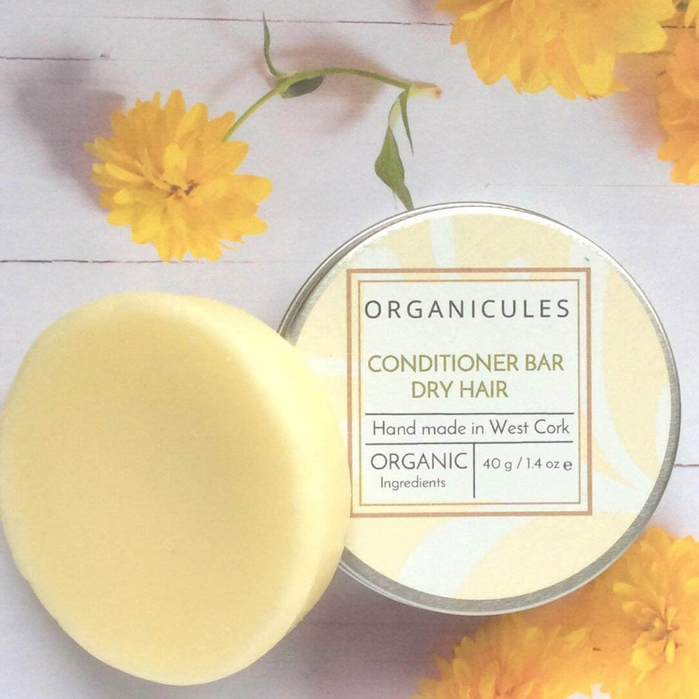 Organicules Conditioner Bar in Tin - For Dry Hair - Sweet Orange, Bergamot & Patchouli