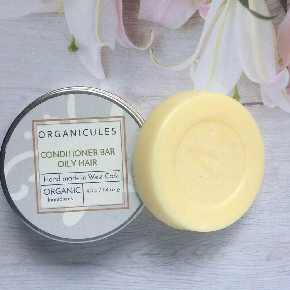 Load image into Gallery viewer, Organicules Conditioner Organicules Conditioner Bar in Tin - For Oily Hair - Rosemary, Peppermint & Cedarwood