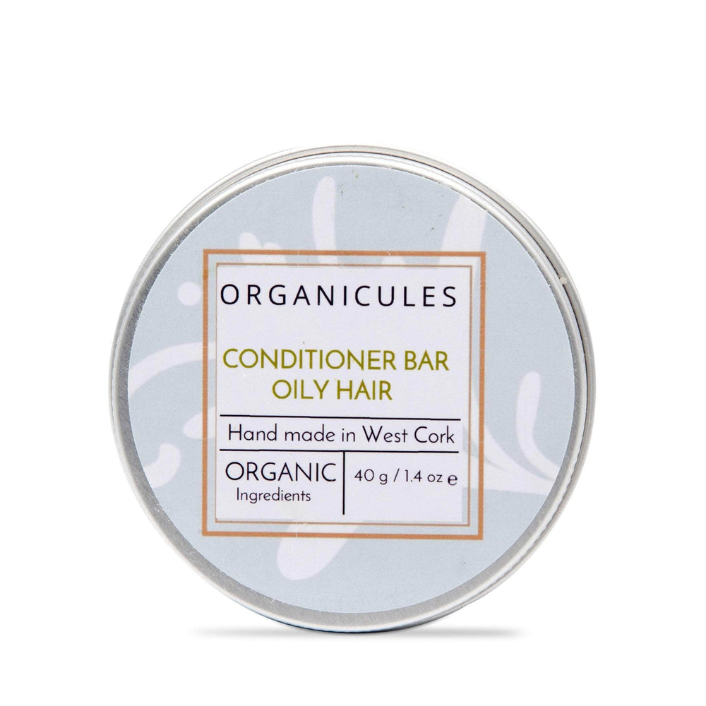 Organicules Conditioner Bar in Tin - For Oily Hair - Rosemary, Peppermint & Cedarwood
