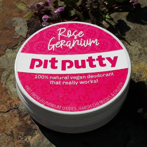 Load image into Gallery viewer, Pit Putty Deodorant Pit Putty Deodorant - Plastic & Aluminium Free - Rose Geranium - 65gm