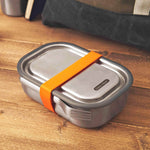 black + blum Food Containers black + blum Stainless Steel Lunch Box - Leak Proof 3-in-1 - Orange