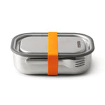 black + blum Stainless Steel Lunch Box - Leak Proof 3-in-1 - Orange