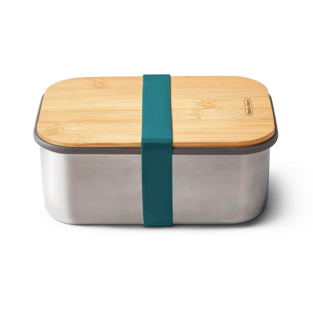 black + blum Stainless Steel Sandwich Box Large & Bamboo Lid - Ocean
