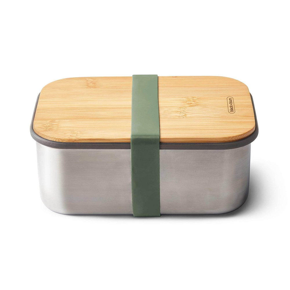 black + blum Stainless Steel Sandwich Box Large & Bamboo Lid - Olive