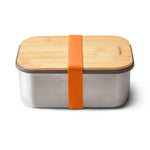 black + blum Stainless Steel Sandwich Box Large & Bamboo Lid - Orange