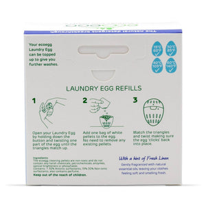 Eco Egg Laundry Eco Egg - Laundry Egg Refills - Fresh Linen - 210 Washes