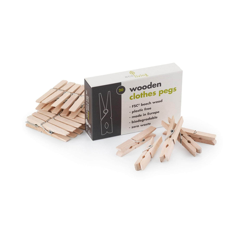 ecoLiving Laundry Wooden Clothes Pegs (FSC 100%)