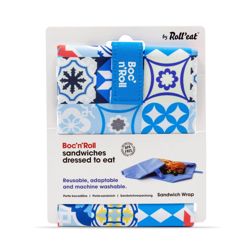 Roll N Eat Lunchboxes Blue Roll N Eat - Boc N' Roll Patchwork - Mixed Colours