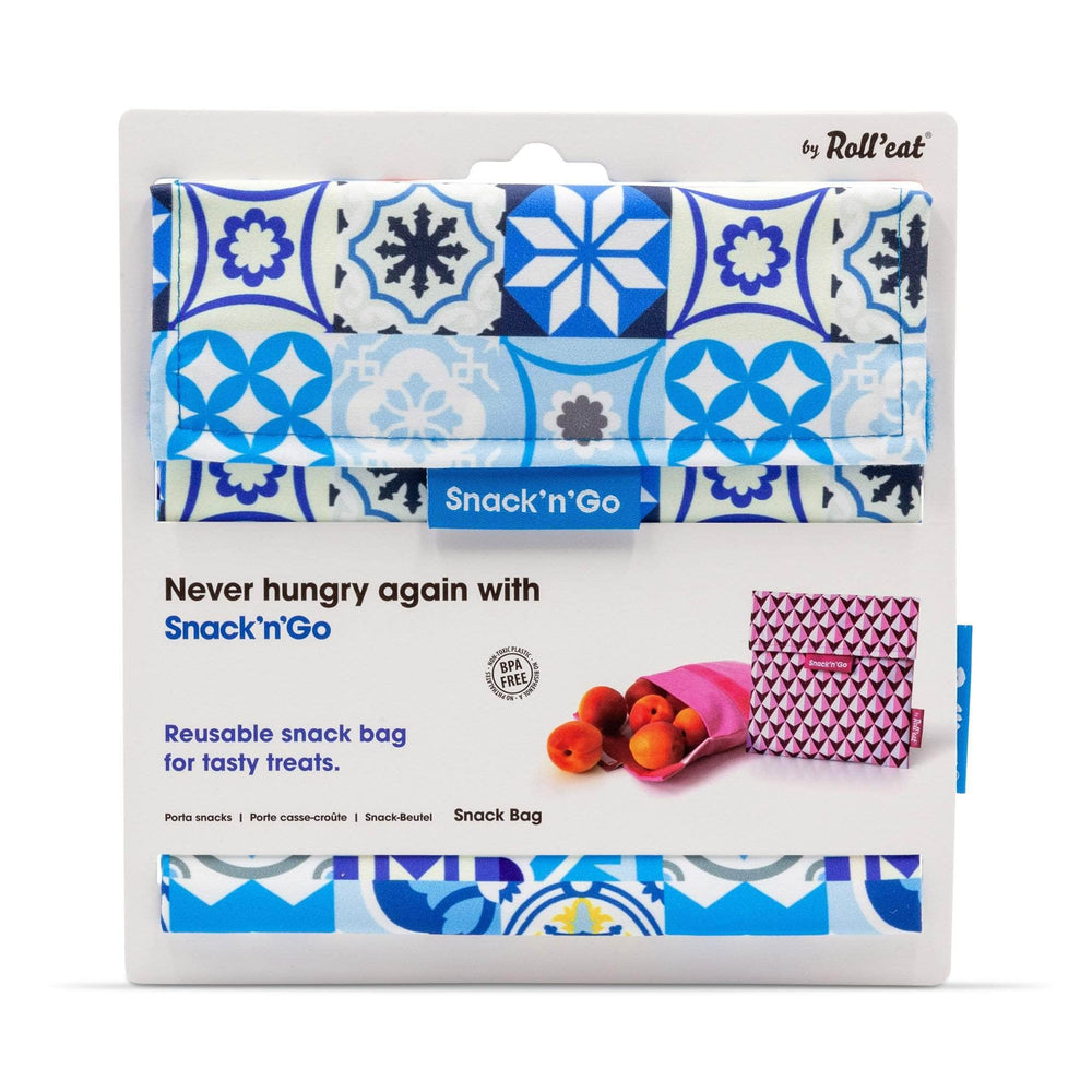 Roll N Eat Lunchboxes Blue Roll N Eat - Snack N'go - Patchwork Mixed