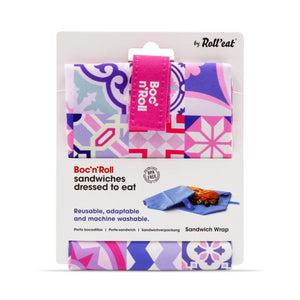 Roll N Eat Lunchboxes Pink Roll N Eat - Boc N' Roll Patchwork - Mixed Colours