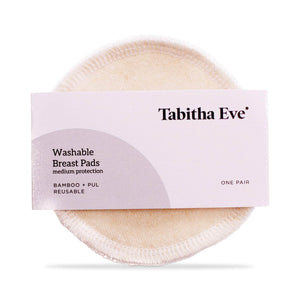 Load image into Gallery viewer, Tabitha Eve Maternity Tabitha Eve - Washable & Reusable Bamboo Breast Pads Pair (Medium)
