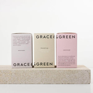 Grace & Green Sanitary Wear Grace & Green - Period Cup Size A Translucent