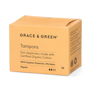 Grace & Green Sanitary Wear Grace & Green - Tampons Regular Non Applicator