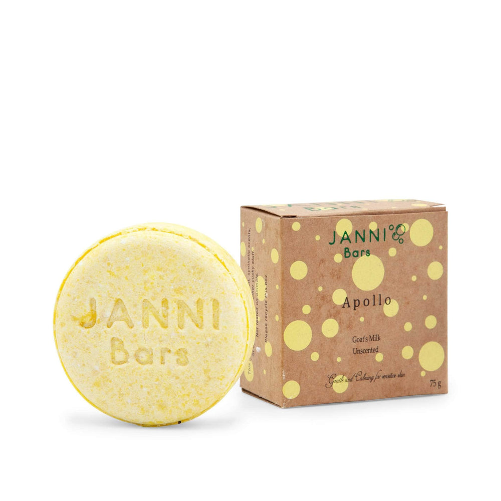Janni Bars Shampoo Bar - Apollo -  Goats Milk & Ylang Ylang