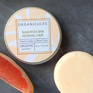 Organicules Shampoo Organicules Shampoo Bar in Compostable Bag - For Normal Hair - Mandarin, Patchouli, Sweet Orange And Bergamot.
