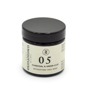 Oxmantown Skincare 05 Charcoal & Green Clay Detoxifying Face Mask 60ml