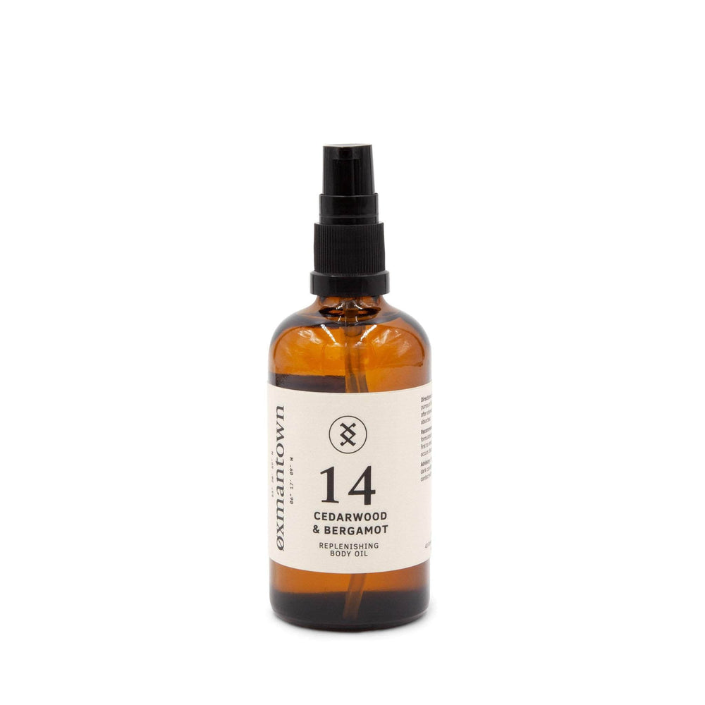 Oxmantown Skincare 14 Cedarwood & Bergamot Replenishing Body Oil 100ml
