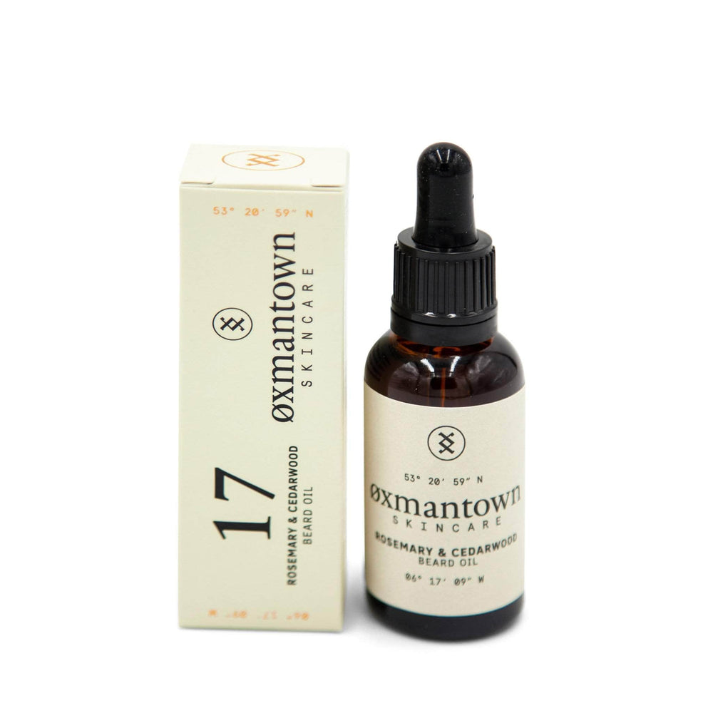 Oxmantown Skincare 17 Rosemary & Cedarwood Beard Oil 30ml
