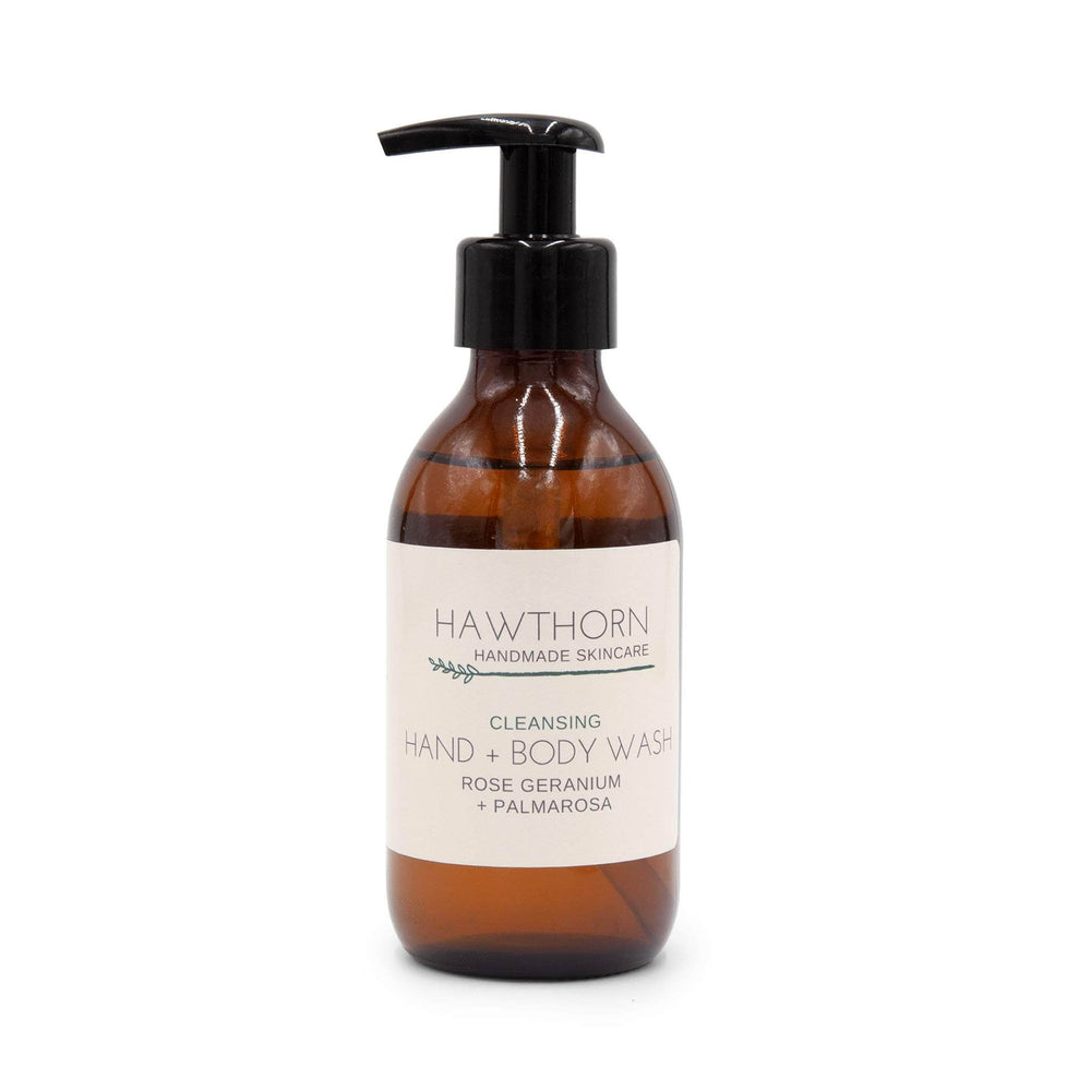 Load image into Gallery viewer, Hawthorn Handmade Skincare Skincare Cleansing Hand & Body Wash - Rose Geranium + Palmarosa - 200ml