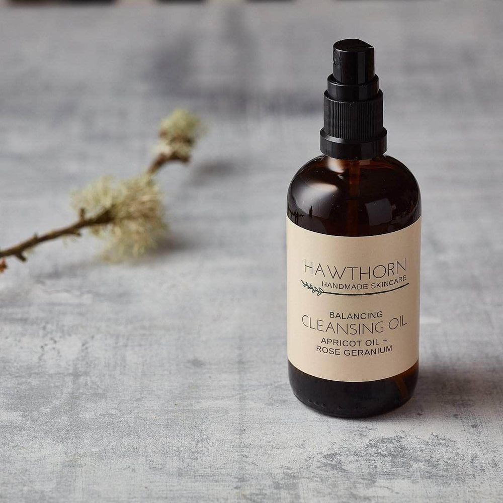 Load image into Gallery viewer, Hawthorn Handmade Skincare Skincare Hawthorn Balancing Cleansing Oil Apricot Oil & Rose Geranium 100ml