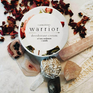 Load image into Gallery viewer, Warrior Botanicals Skincare Warrior Sensitive Deodorant Cream - Rose, Cardamom and Vanilla
