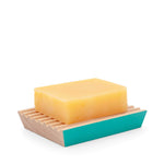 ecoLiving Soap Dishes ecoLiving Beech Wood Soap Dish - Turquoise