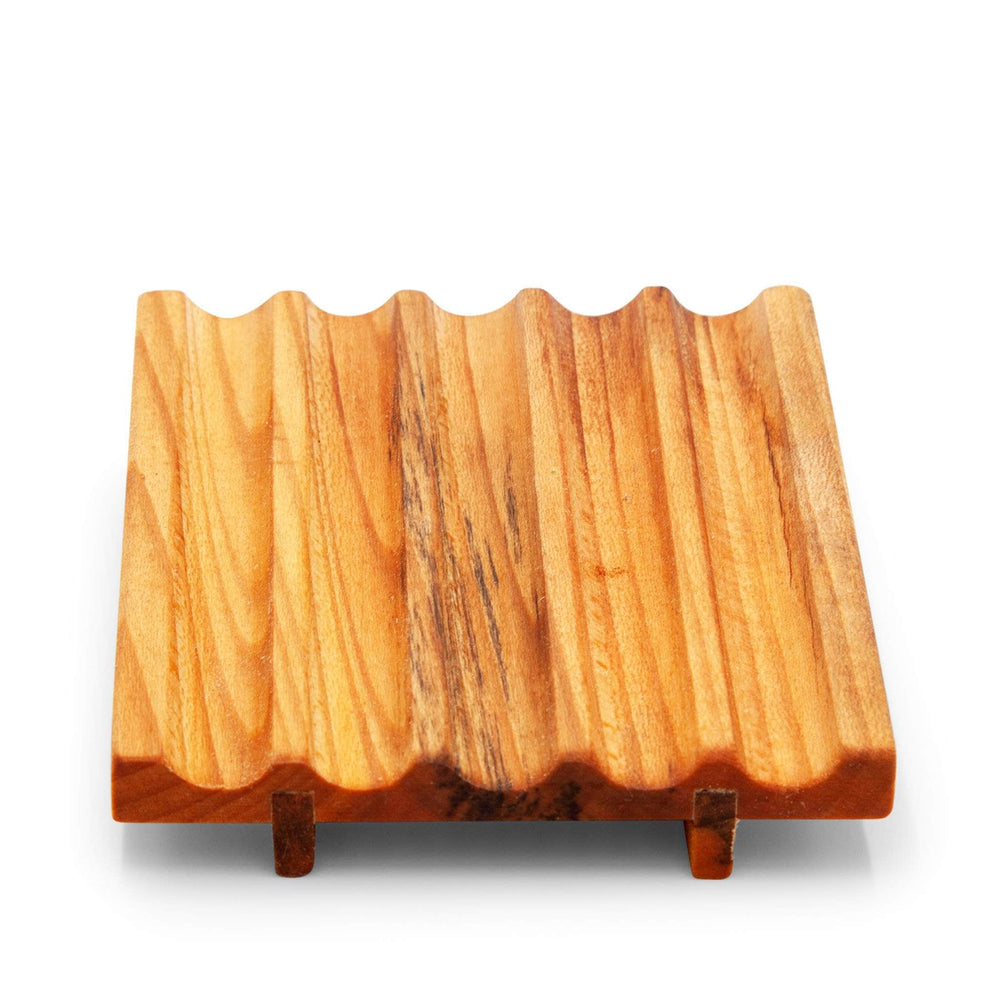 OC Woodturning Soap Dishes Natural Wooden Soap Dish - Iroko African Teak
