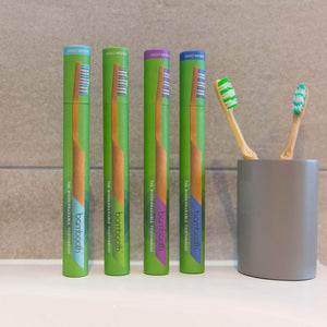 Load image into Gallery viewer, Bambooth Toothbrush Bamboo Toothbrush Medium - Aquamarine