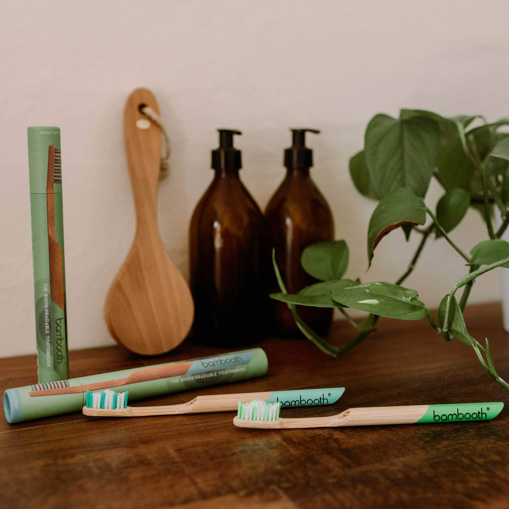 Bambooth Toothbrush Bamboo Toothbrush Soft - Forest Green