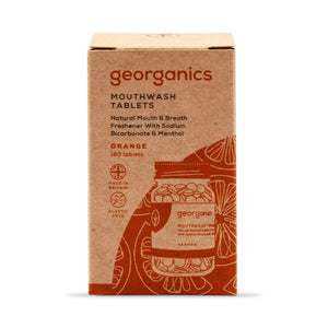 Georganics Toothpaste Georganics - Mouthwash Tablets 180 - Orange