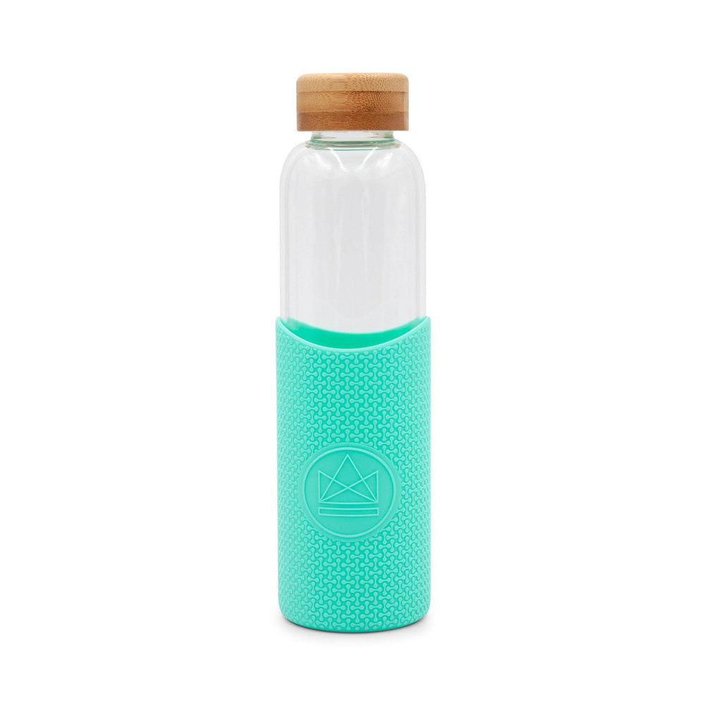 Neon Kactus - Glass Water Bottles - 550ml - Free Spirit Turquoise