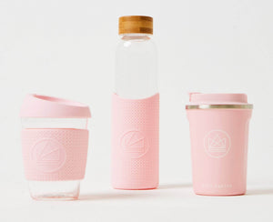 Neon Kactus Water Bottle Neon Kactus - Glass Water Bottles - 550ml - Pink Flamingo