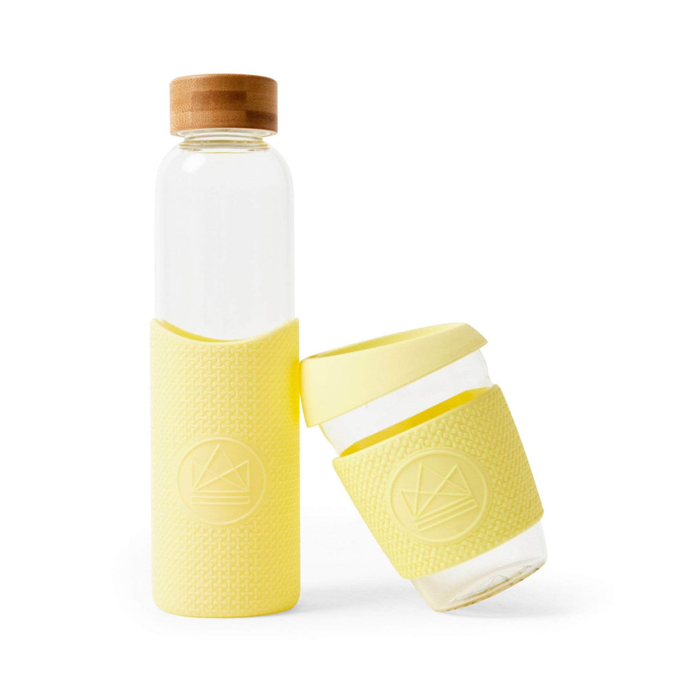 Neon Kactus Water Bottle Neon Kactus - Glass Water Bottles - 550ml - Sun Is Shining Yellow