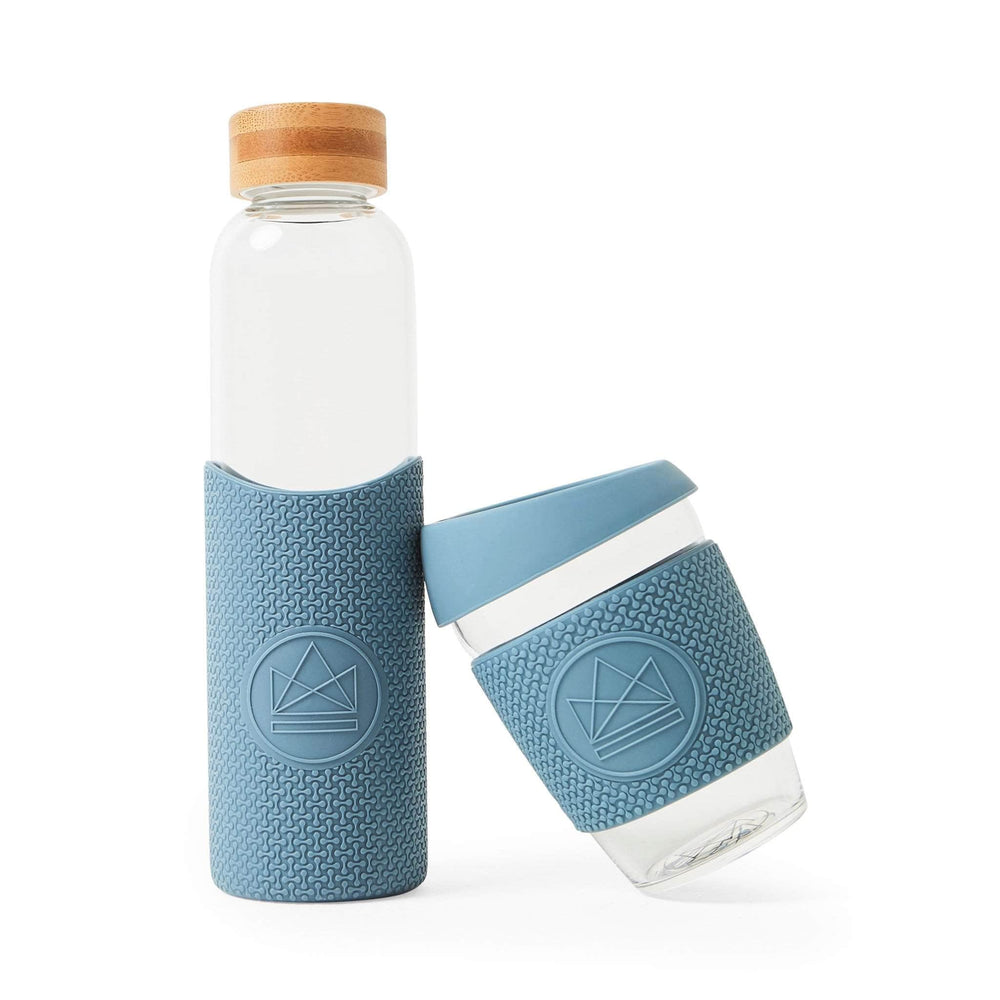 Neon Kactus Water Bottle Neon Kactus - Glass Water Bottles - 550ml - Super Sonic Pastel Blue