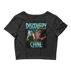 DISCOVERY CHANNEL Women's Crop Tee