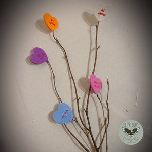 Conversation Heart Branch Pick