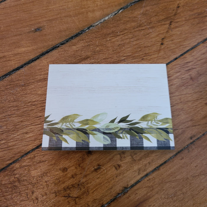 Buffalo Check & Eucalyptus Place Cards
