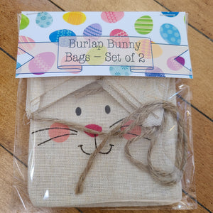 Burlap Bunny Treat Bags