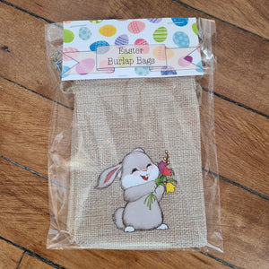 Easter Burlap Treat Bag - Set of 2