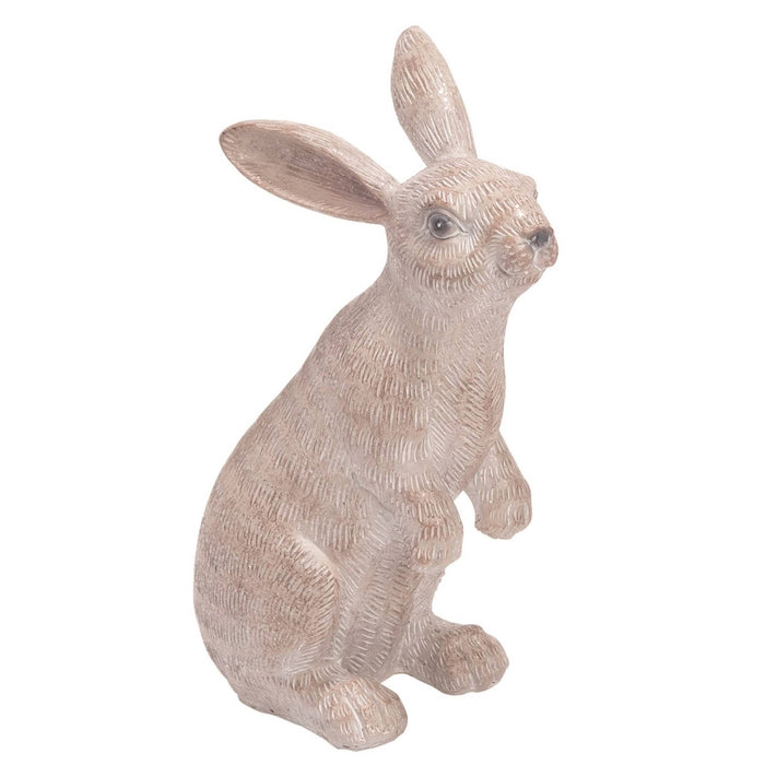 White Easter Sitting Bunny Statuette