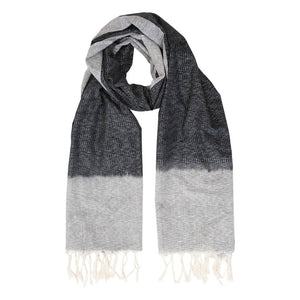 Black with Grey Timeless Ikat Scarf