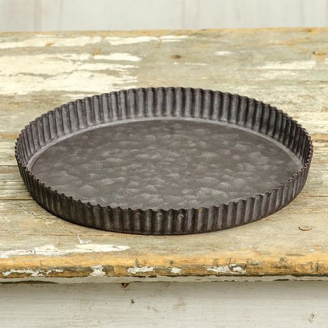 Fluted Round Tray - 9""