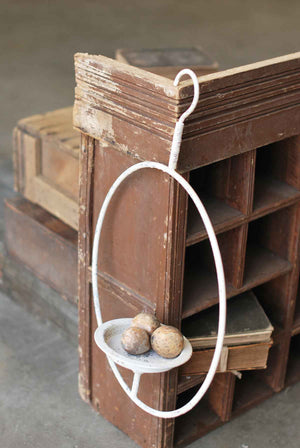 Hanging Halo Candle Stand - Cream