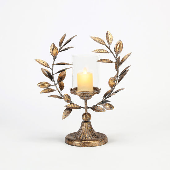 Laurel Wreath Candle Holder