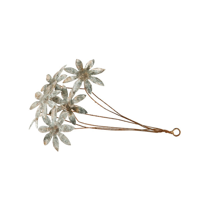 Metal Tole Flower Bunch Ornament